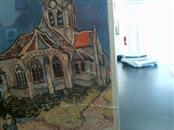 VINCENT CAMUTO Painting VAN GOGH CHURCH OF D'AUVERS